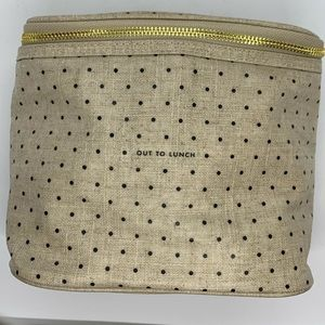 Kate Spade Linen Dot Out to Lunch Bag